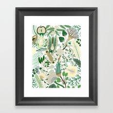 Green Flower Fantasy  Framed Art Print