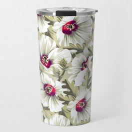 New Zealand Hibiscus Floral Print (Day) Travel Mug