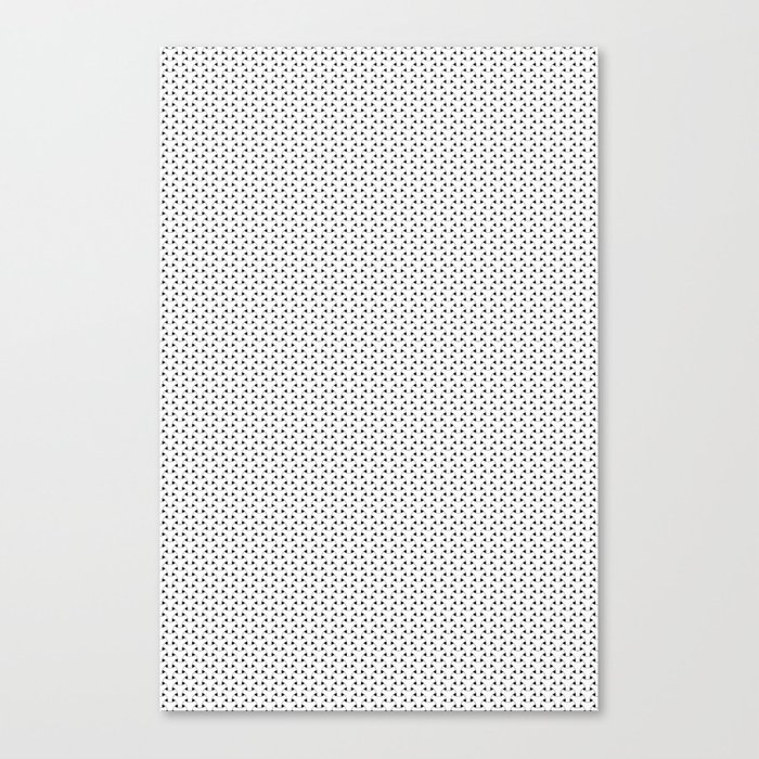 Black and White Basket Weave Shape Pattern - Graphic Design Canvas Print