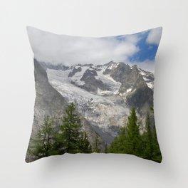 Fir tree Forest Snowy Mountains Alpine Landscape Throw Pillow