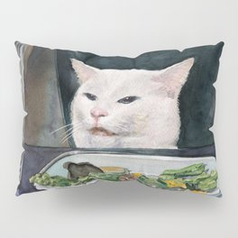Woman Yelling at Cat Meme-2 Pillow Sham