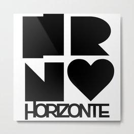 HORIZONTE LOGO Metal Print