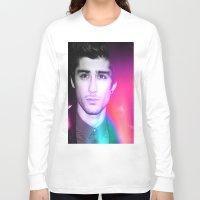 zayn malik Long Sleeve T-shirts featuring ONE DIRECTION - ZAYN MALIK by Beauty Killer Art