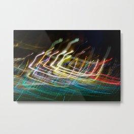 Dancing Lights in Scotland Metal Print