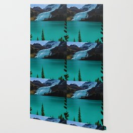 Berg glacier from Berg Lake, BC Wallpaper