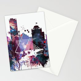 Milwaukee Watercolor Skyline Stationery Cards