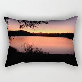 LAKE HENNESSEY - NAPA CALIFORNIA - SUNSET REFLECTION Rectangular Pillow