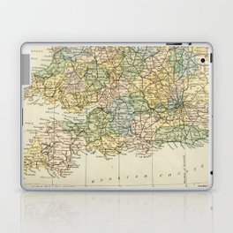 England and Wales Vintage Map Laptop & iPad Skin