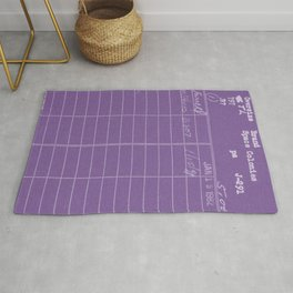 Library Card 797 Negative Purple Rug
