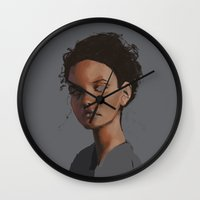 dylan Wall Clocks featuring Dylan by Notwhatnot