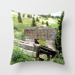 Black Bear Pass Road - Gold Rush Ore Loading Chute, No. 3 of 3 Throw Pillow