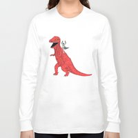 dinosaur Long Sleeve T-shirts featuring Dinosaur B Forever by Isaboa