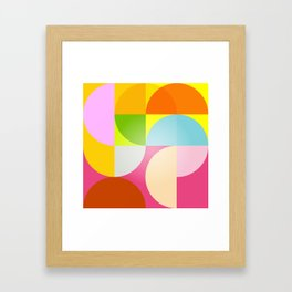 mid century modern geometry Framed Art Print
