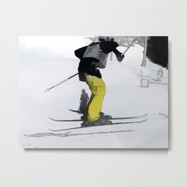 Natural High   - Ski Jump Landing Metal Print
