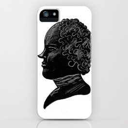 Silhouette of a Gentleman iPhone Case