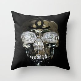 fashion on the brain Throw Pillow