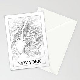 New York City, New York, USA, city map Stationery Cards