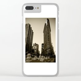 Flatiron Building - Sepia Clear iPhone Case