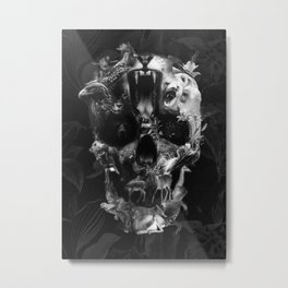 Kingdom Skull B&W Metal Print