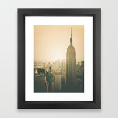 New York City - Empire State Building Framed Art Print