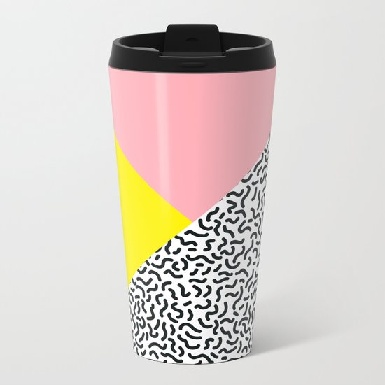 Memphis pattern 28 Metal Travel Mug