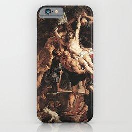 Original The Raising of the Cross by Peter Paul Rubens iPhone Case