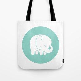 Mod Baby Elephant Teal Tote Bag