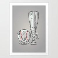 Bat-tered Art Print