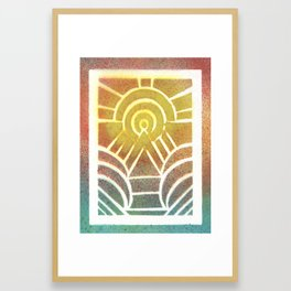 Drawing Meditation: Stencil 2 - Print 2 Framed Art Print