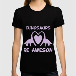 Dinosaurs Are Awesome Purple T-shirt