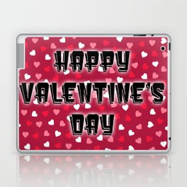 Happy Valentine's Day with Colored Hearts Laptop & iPad Skin