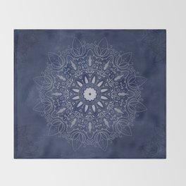 Indigo Mystique Mandala Throw Blanket