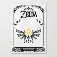the legend of zelda Canvas Prints featuring Zelda legend - Hyrulian Emblem by Art & Be