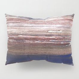 Brown blue abstract Pillow Sham