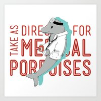 medical Art Prints featuring Medical Porpoises by theartisticfox