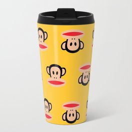 Julius Monkey Pattern by Paul Frank - Yellow Travel Mug