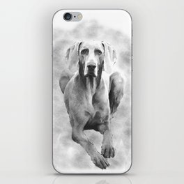 MR TEE THE WEIMARANER iPhone Skin
