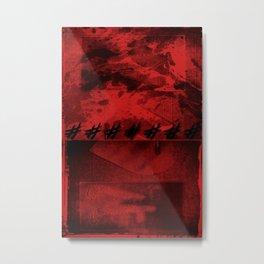 SACRA SINDONE [RED] Metal Print