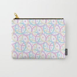Colorful Stars and Circles in the Pastel Style Carry-All Pouch