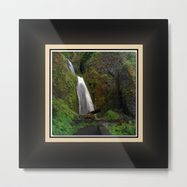 Wahkeena Falls East View, Oregon Series 1 of 2 Metal Print