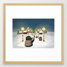 Santa's Workshop, (The Unexpected Adventures: Christmas Edition) Framed Art Print