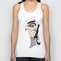 western Tank Tops featuring Western Mobster by Grime Lab
