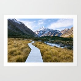 Mt.Cook New Zealand - A hikers dream Art Print
