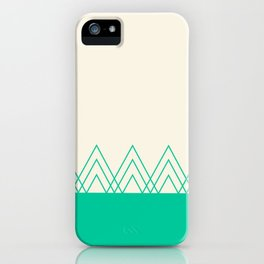 Mint Triangles iPhone Case