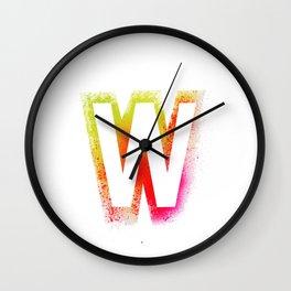 Unconventional alphabet Wall Clock