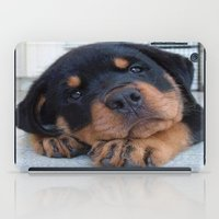 rottweiler iPad Cases featuring Riley  🐾  The Rottweiler Puppy  🐾 by D.A.S.E. 3
