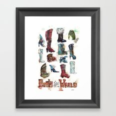 Boots of the World Framed Art Print