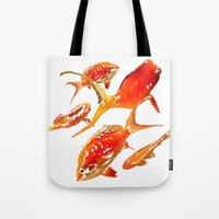 goldfish Tote Bags featuring Goldfish by Regan's World
