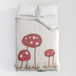 Fall Shrooms Comforters