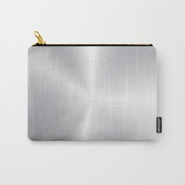 Shiny faux silver background Carry-All Pouch